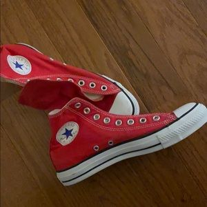Red High Top Converses